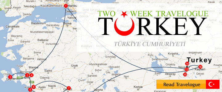 Two-week travelogue to Turkey