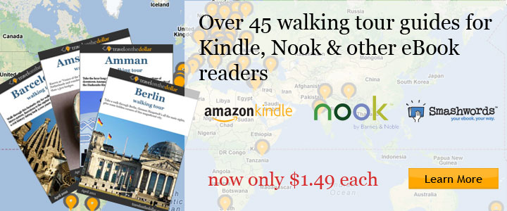 Walking tour guides for Kindle, Nook & other eBook readers