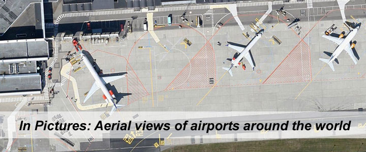 In pictures: Aerial view of airports around the world